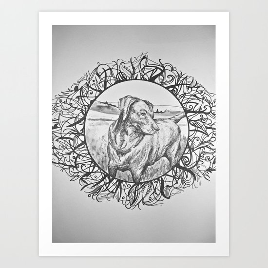 Mans Best Friend Art Print