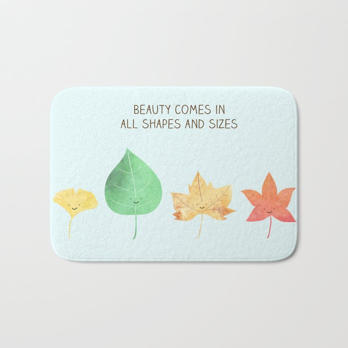 beauty comes in all shapes & sizes Bath Mat