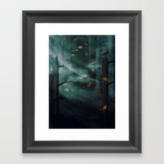 In the Woods Tonight Framed Art Print