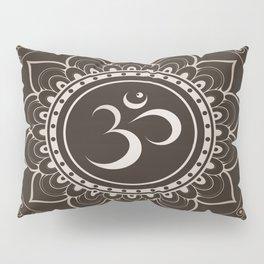 Espresso Brown Om Mandala Pillow Sham