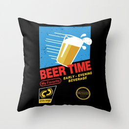 Beer Time Throw Pillow