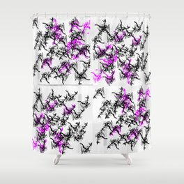 Smash Pattern Blaagh Shower Curtain