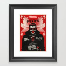 Night of the Furies - Gig poster Framed Art Print