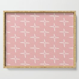 Nautical Star Pink  #homedecor Serving Tray