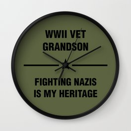 WWII Grandson Heritage Wall Clock