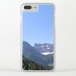Snow Topped Waterfall Clear iPhone Case