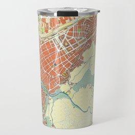 Ronda city map classic Travel Mug