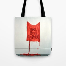 You Are A Ghost, The Unravel, Silk Graffiti by Aubrie Costello Tote Bag