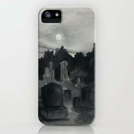 Ghoulish graveyard iPhone Case