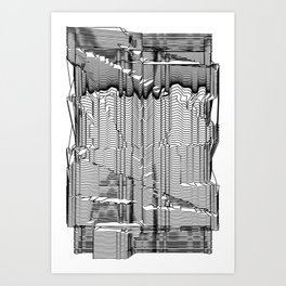 Refracture of the False Mend // Blackline Art Print