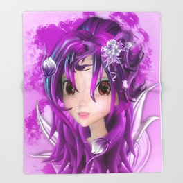 Manga Anime Girl 2 Throw Blanket
