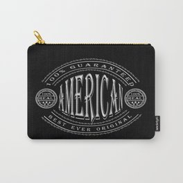 100% American (white badge on black) Carry-All Pouch