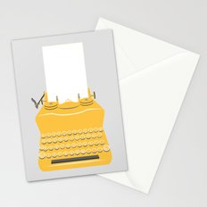 The Lonely Typewriter {mustard} Stationery Cards