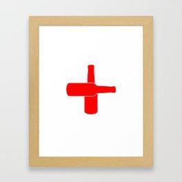 Red Beer Cross Framed Art Print