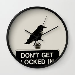 Don't Lock Me In - Graphic Birds Series, Plain - Modern Home Decor Wall Clock