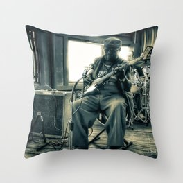 Hosea Hargrove, The Godfather Of Austin Blues Throw Pillow