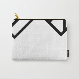 Black Geometry Carry-All Pouch