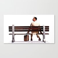 forrest gump Canvas Prints featuring Forrest Gump by e_Walnutstreet