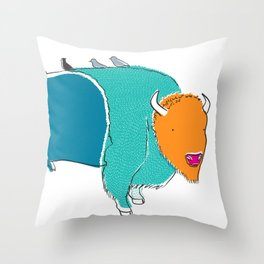Bristol Bison Throw Pillow