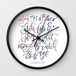 In The Embers Wall Clock