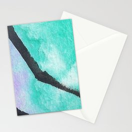 The sea and the violet sand. An island of peace. Stationery Cards