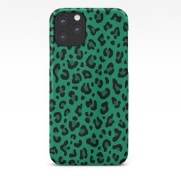 LEOPARD PRINT in GREEN | Collection : Leopard spots – Punk Rock Animal Print iPhone Case
