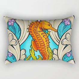 Art Nouveau Seahorse Rectangular Pillow
