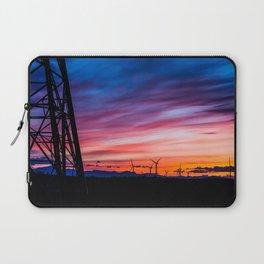 Sunset & Windmills Laptop Sleeve