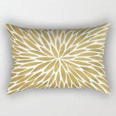 Golden Burst Rectangular Pillow