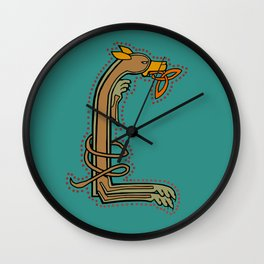 Celtic Hound Letter L 2018 Wall Clock
