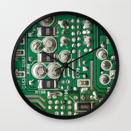 Circuit Board Macro Wall Clock