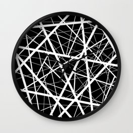 Black & White Criss Cross Wall Clock