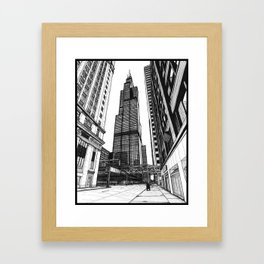 On the Shoulders of Giants - Original Drawing Framed Art Print