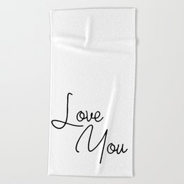 Quotes Beach Towels
