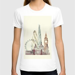 London skyline art T-shirt