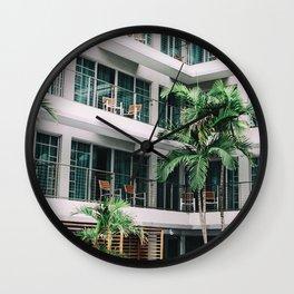 Beach Hotel Wall Clock