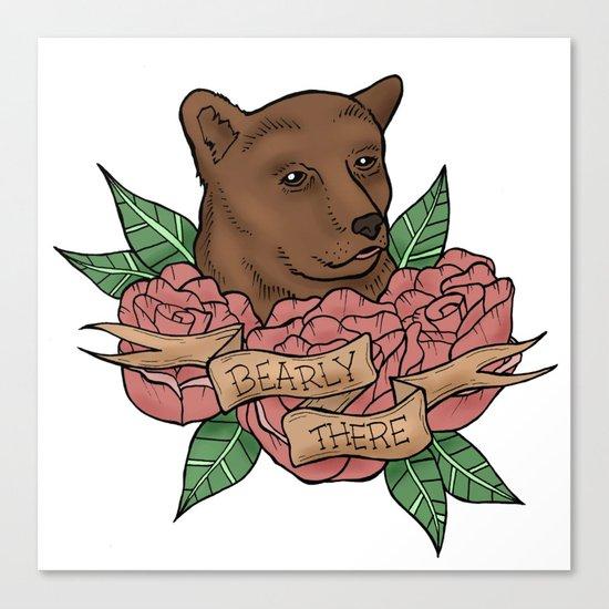 Bearly There Canvas Print