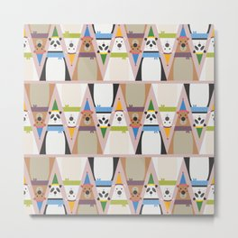 A Sleuth of Bears (Patterns Please) Metal Print
