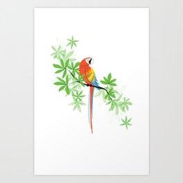 Tropical Parrot Summer Art Print