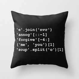 Rick Roll in Python Throw Pillow