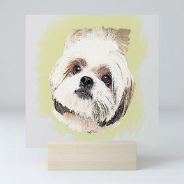 Shihtzu Dog Desain 001 Mini Art Print