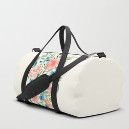 Watercolor Peonies Duffle Bag