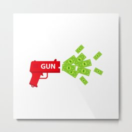 Shoot Toy Gun With Bills Metal Print