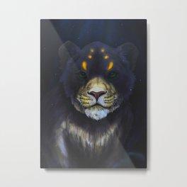 Cute Lion Artwork Metal Print