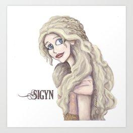 Sigyn, Goddess of Constancy Art Print