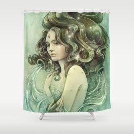 Zodiac Aquarius Shower Curtain