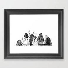 Headbangers. Framed Art Print