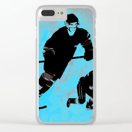 Game on! - Hockey Night Clear iPhone Case