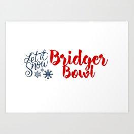 Snow in Bridger Bowl Art Print