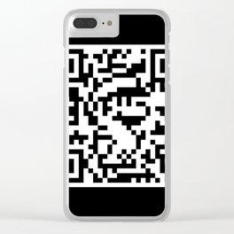 QR Mario Clear iPhone Case